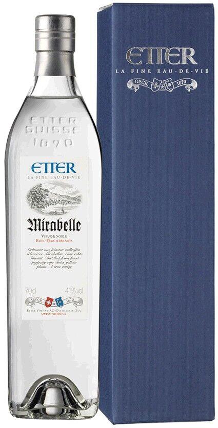 Etter Söhne AG Distillerie Zug Etter Mirabelle in Geschenkverpackung Schweizer Mirabelle, 41% Vol.