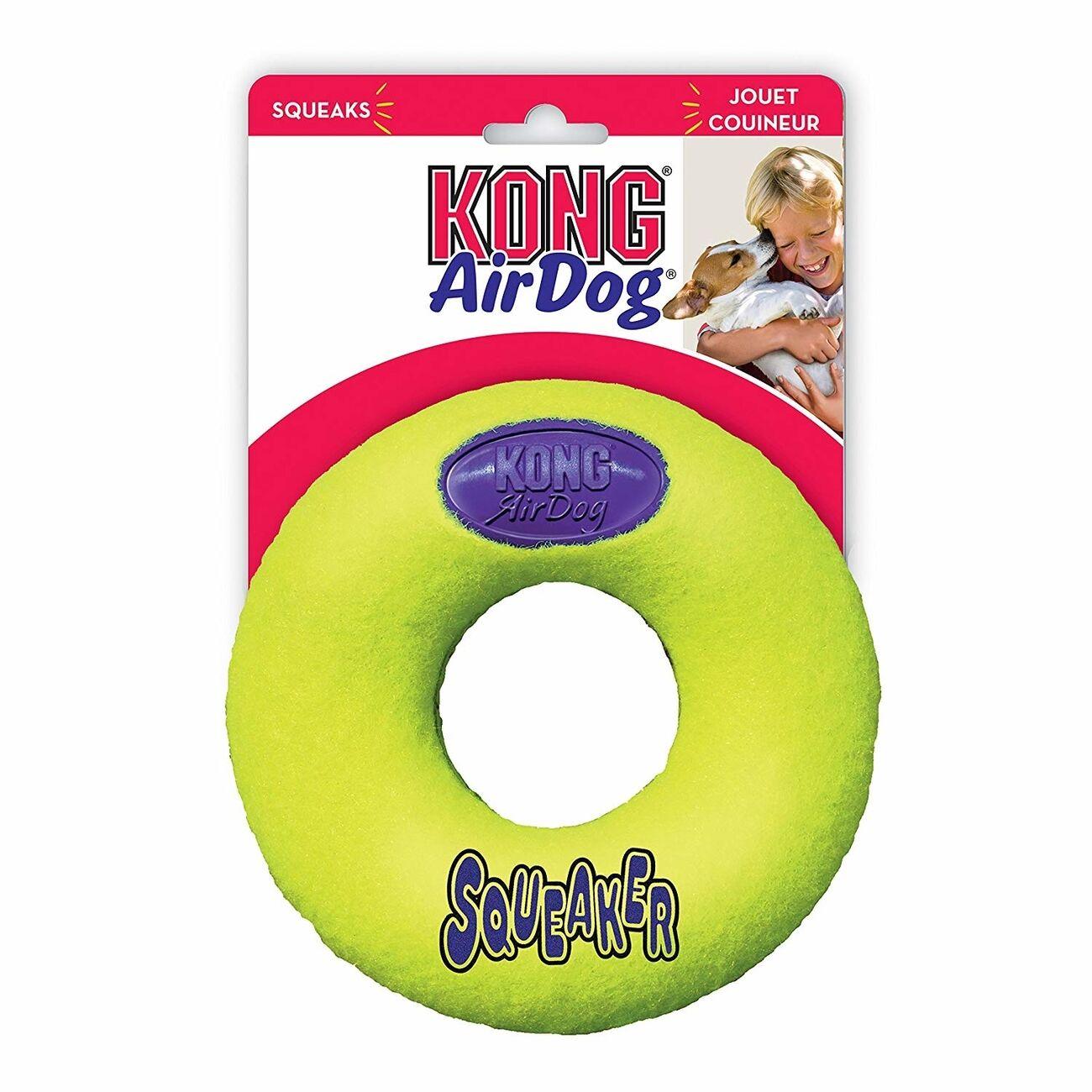 KONG Airdog Donut mit Quietscher, Medium, 11,5 x 3 cm