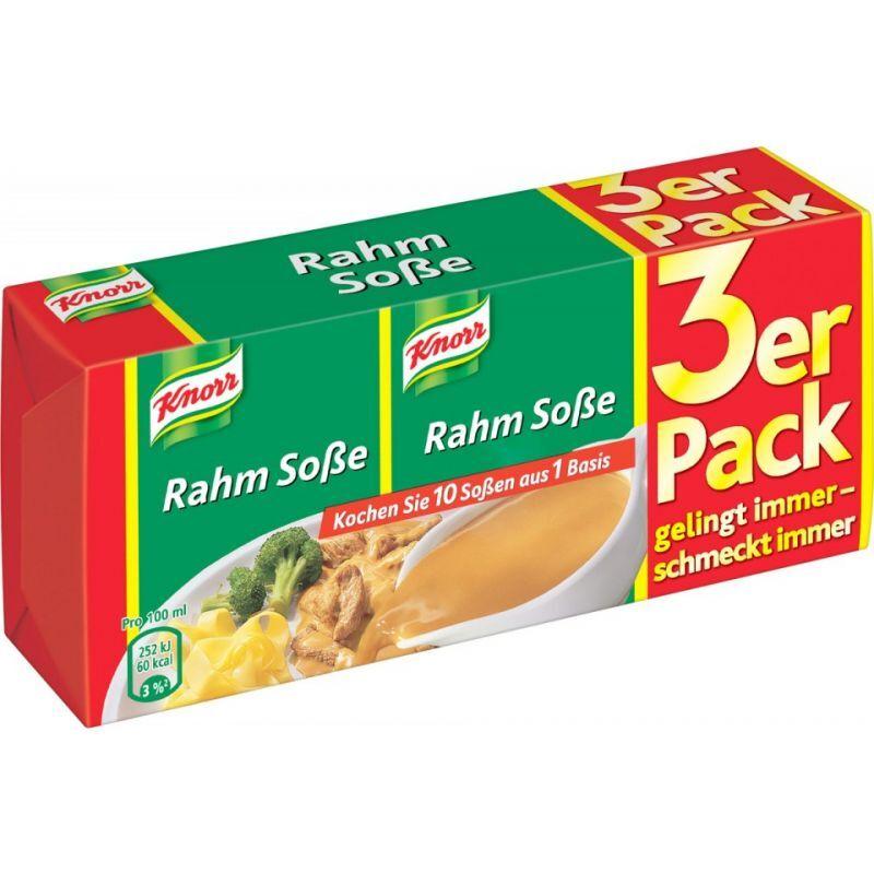 Knorr Rahm Soße - 750 ml (3 x 250 ml)
