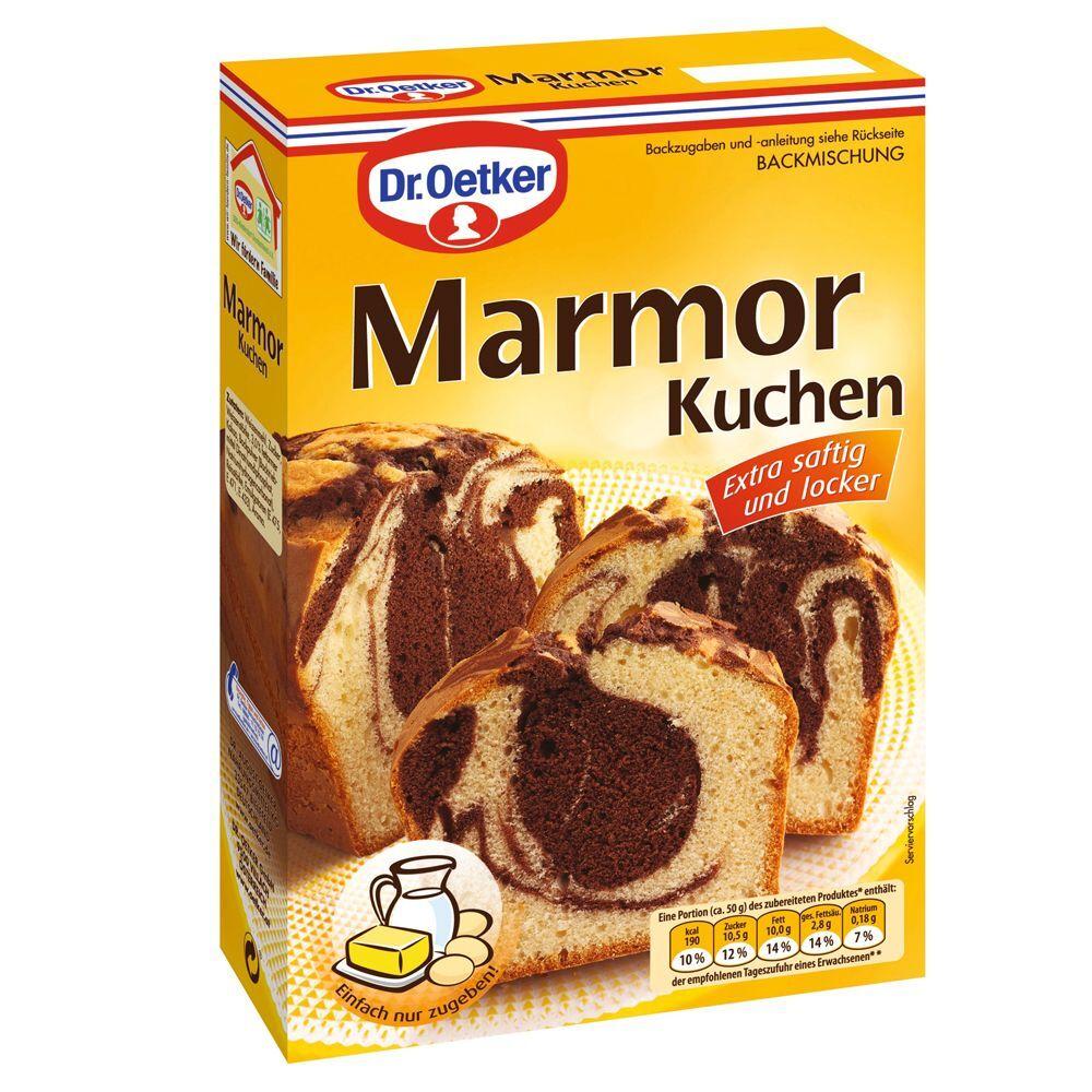 Dr. Oetker 400g Backmischung Marmor Kuchen Dr. Oetker Backwaren
