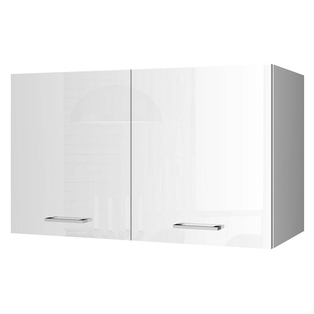 Küchen-Hängeschrank 100 MARANELLO-03 Weiß Hochglanz Breite 100 cm