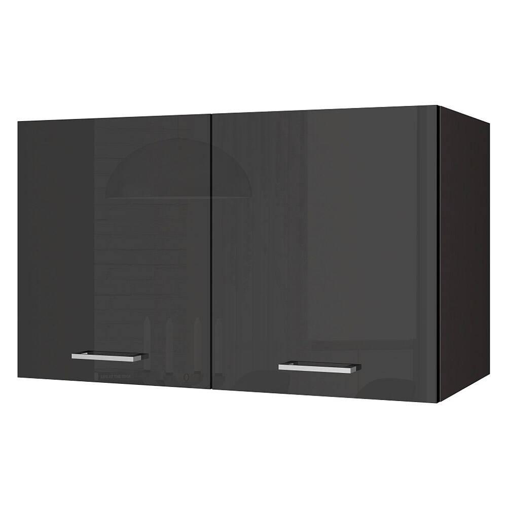 Küchen-Hängeschrank 100 MARANELLO-03 Anthrazit Hochglanz Breite 100 cm