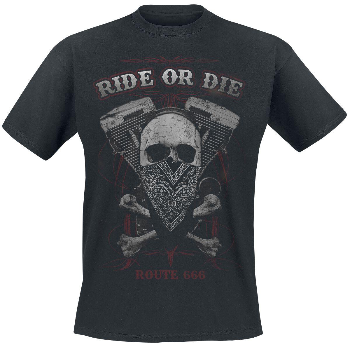 Ride Or Die Herren-T-Shirt schwarz