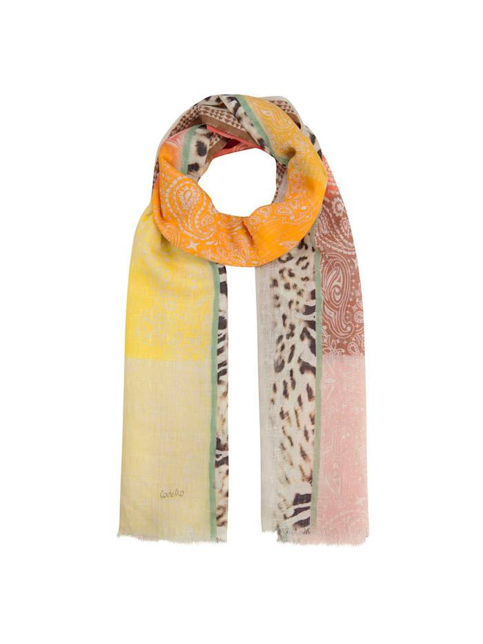 Codello Mustermix-Schal aus Baumwolle und Leinen Codello orange