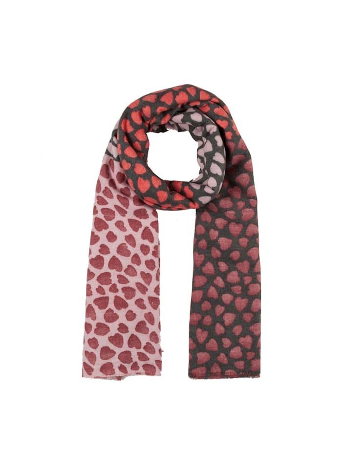 Codello Ultrasofter Herzchen-Schal aus recyceltem Polyester Codello dark red
