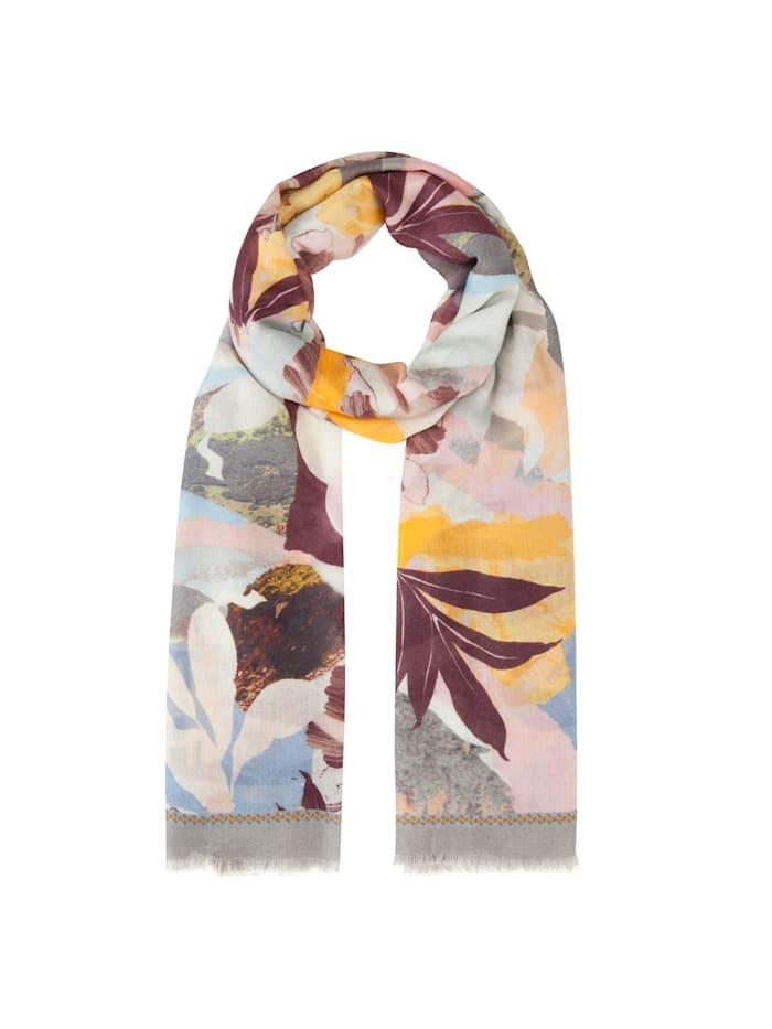 Codello Premium Schal mit floralem Exotik-Print aus Modal und Seide Codello grey