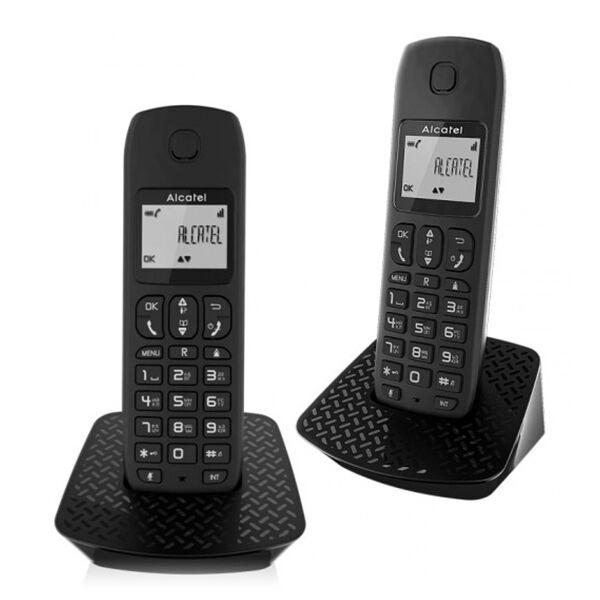 Alcatel Kabelloses Telefon Alcatel E132-DUO DECT Schwarz 2 pcs