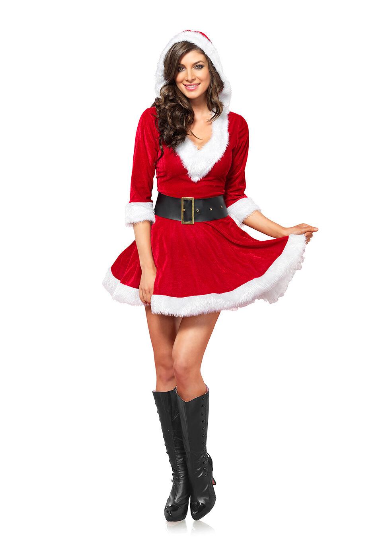 Leg Avenue Mrs. Claus Hooded Dress
