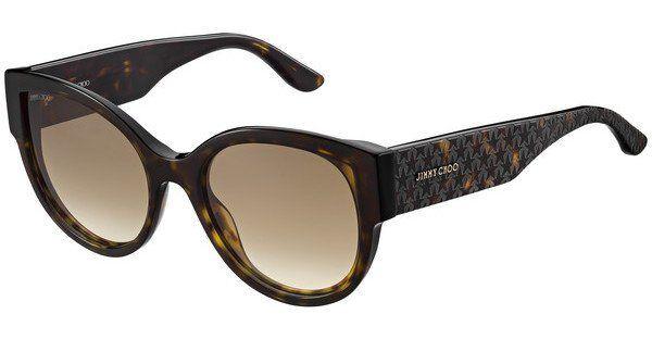 JIMMY CHOO Damen Sonnenbrille »POLLIE/S«, 086/HA - Havana/braun