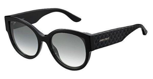 JIMMY CHOO Damen Sonnenbrille »POLLIE/S«, 807/9O - schwarz/grau