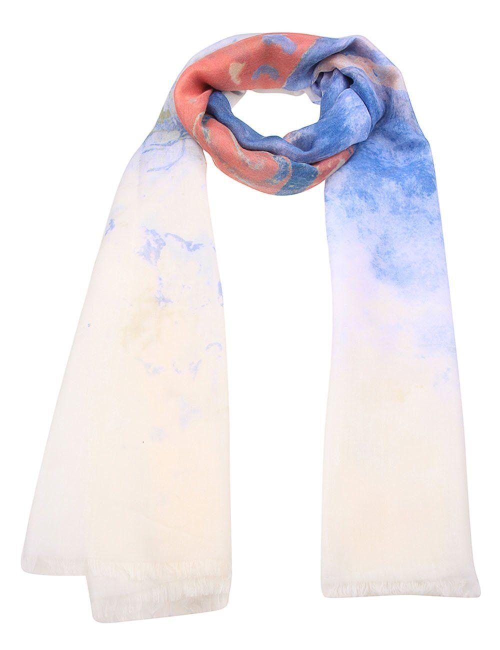 leslii Schal mit Schmetterlings-Design, weiß-multi