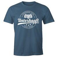 moonworks print-shirt »chronisch unterhopft total herren t-shirt since ever fun-shirt ®« mit print, blau