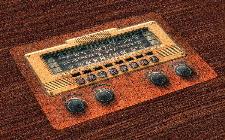 Abakuhaus Tischdecke, »Waschbare Stoff Esszimmer Küche Tischdekorations Digitaldruck«, , (4-teilig, 4 Teilig-St., Set aus 4x), Musik Antike Radios