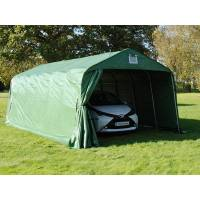dancover zeltgarage lagerzelt garagenzelt pro 3,6x7,2x2,68m pvc, grün