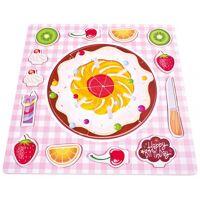 bino shape puzzle obst/kuchen junior 30 cm holz rosa 20 teile