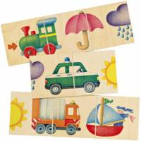selecta spielzeug puzzlespiel straßenstatue junior holz 8 teilig