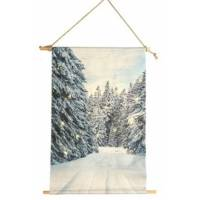 countryfield wanddekoration whitby led 60 cm textil weiß