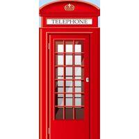 walplus türdekoration telefonzelle 200 x 88 cm pvc