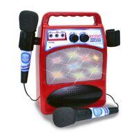 bontempi bluetooth verstärker mit 2 mikrofonen 28 cm rot