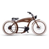 ruff cycles ruffian chopper e bike bosch mittelmotor 300wh braun