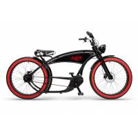 ruff cycles ruffian chopper e bike bosch mittelmotor 500wh schwarz