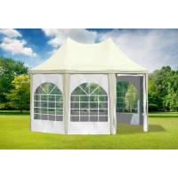 stabilezelte pavillon 3x4,1m beige / weiß pvc pagodenzelt arabica profi wasserdicht