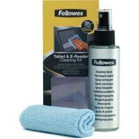 fellowes tablet und e-reader reinigungsset, bildschirmreinigungsset speziell für tablets, smartphones, touchscreens etc., 1 set = 120 ml bildschirm-reinigungsspray und ein mikrofasertuch