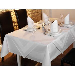 W.F. GÖZZE Frottierweberei GmbH Gözze PIK-AS - Atlantiskante Tischwäsche, 140 x 200 cm, Feinste Tischdecke mit Atlaskante, Farbe: weiß
