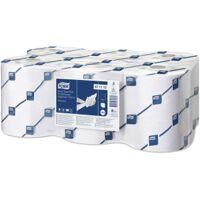 essity professional hygiene germany gmbh tork advanced rollenhandtuch für elektronische spender, 19,5 cm, papierhandtücher für spendersysteme h12, 1 paket = 6 rollen, farbe: weiß, rollenlänge: 143 m