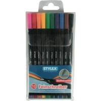 stylex schreibwaren gmbh stylex® feinliner, bunt, fineliner ideal für feines schreiben, zeichnen und skizzieren, 1 packung = 10 stück