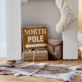 LOBERON Deko-Schild North Pole braun