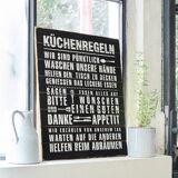 LOBERON Dekoboard Küchenregeln antikschwarz