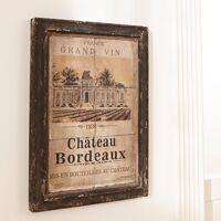 loberon bild chateau bordeaux dunkelbraun/beige