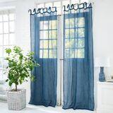 LOBERON Gardine Carpentras blau