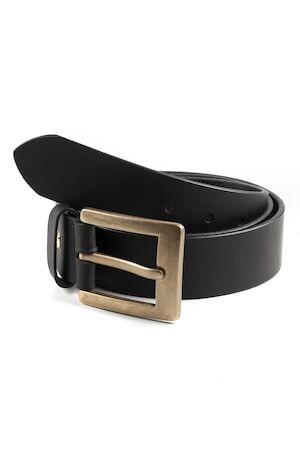 JP1880 Gürtel Herren, schwarz, Leder, Mode in großen Größen