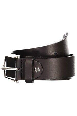 JP1880 Leder Gürtel Herren, schwarz, Mode in großen Größen