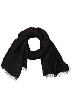 Ulla Popken Dames Sjaal zwart  polyacryl/katoen/Mohair Mode in grote maten