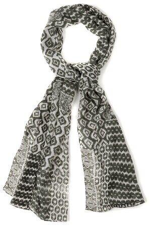 Ulla Popken Dames Sjaal multicolour  polyester Mode in grote maten