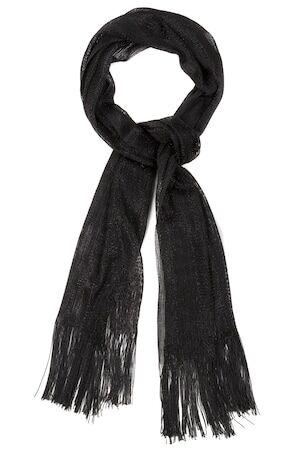 Ulla Popken Dames Sjaal zwart  polyester Mode in grote maten