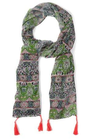 Ulla Popken Dames Sjaal multicolour  viscose Mode in grote maten