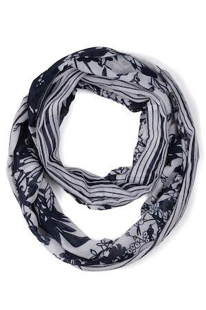 Ulla Popken Dames Loop marine  polyester Mode in grote maten
