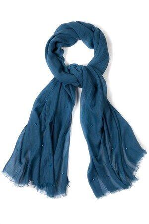 Ulla Popken Schal Damen, tiefseeblau, Polyester, Mode in großen Größen