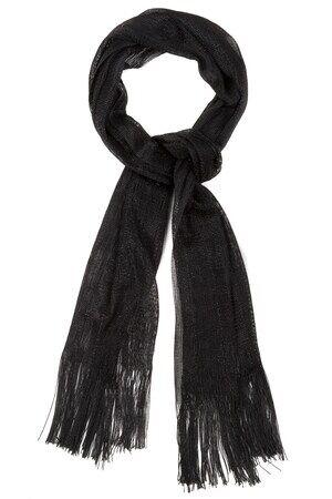 Ulla Popken Schal Damen, schwarz, Polyester, Mode in großen Größen
