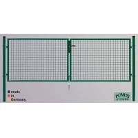kms garten doppeltor, je flügel 200 cm breit, 175 cm hoch, grün ral 6005