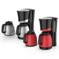 kalorik duo-kaffeemaschine, 1 liter, rot