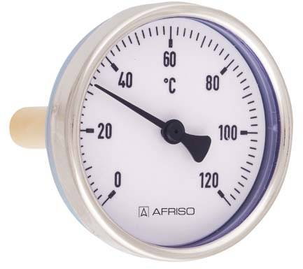 Afriso Bimetall-Thermometer 63813 0/120 °C, 100mm, Gehäuse-d= 100mm