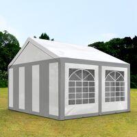 toolport partyzelt 3x4m pe 240g/m² grau wasserdicht gartenzelt, festzelt, pavillon