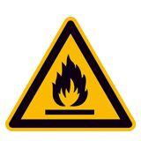 SafetyMarking Warnschild, Warnung vor feuergefährlichen Stoffen, Länge 31,5 cm, Folie, selbstklebend, 21.0153