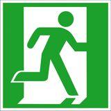 SafetyMarking Fluchtwegschild, Notausgang rechts, BxH 15x15 cm, Aluminium, langnachleuchtend, 15.0029