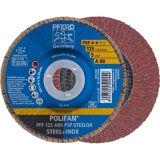 Pferd POLIFAN-Fächerscheibe PFF 125 A 80 PSF STEELOX, VE: 10 Stück, 67648125